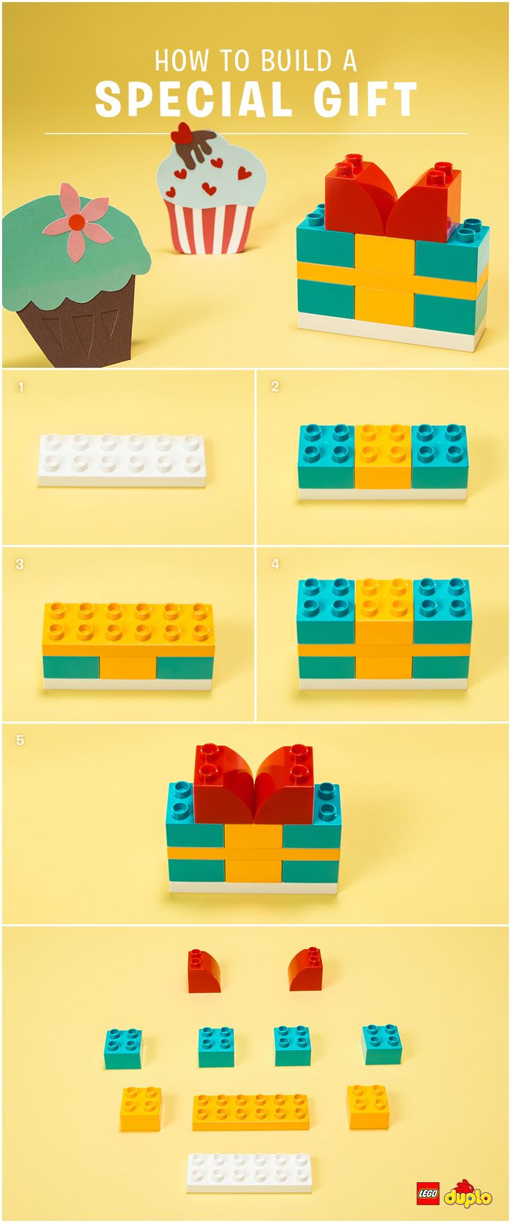 Surprise a special someone with a gift! Find out here how you and your toddler can build a cute present together: http://www.lego.com/da-dk/family/articles/the-gift-that-truly-gives-51e16b8ccccb4a399205911219861421