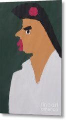 Metal Print featuring the painting Portrait Of A Woman With Red Ribbon 2014 - After Vincent Van Gogh by Patrick Francis