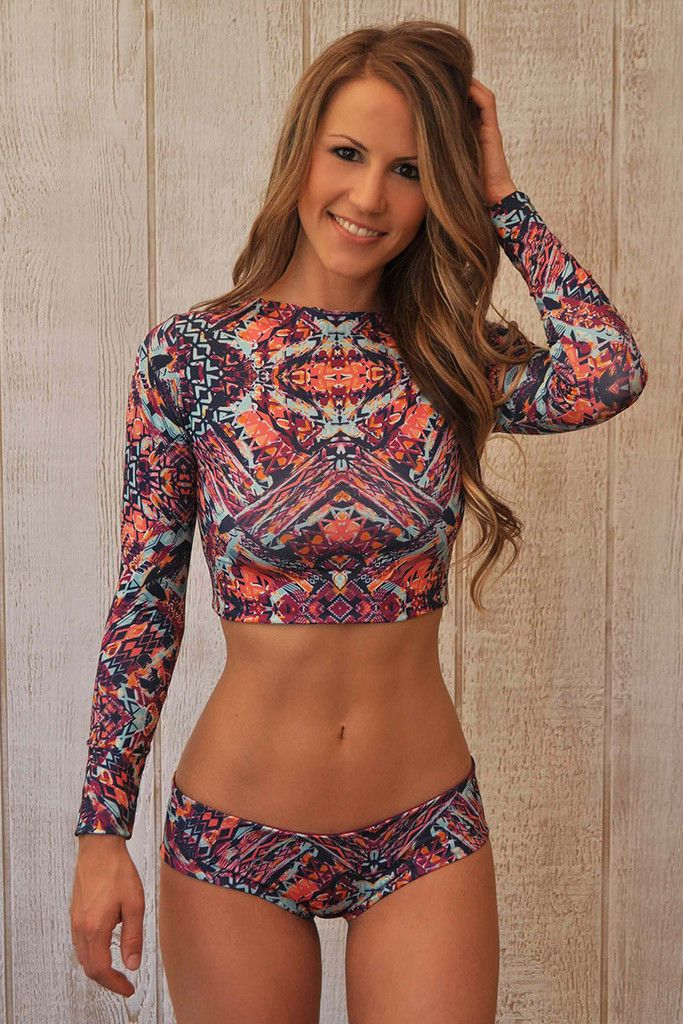 Adore this Kendall Rash Guard Water Glamour suit!