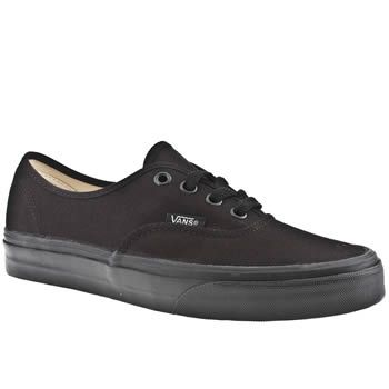 Women's Black Vans Authentic Trainers | schuh