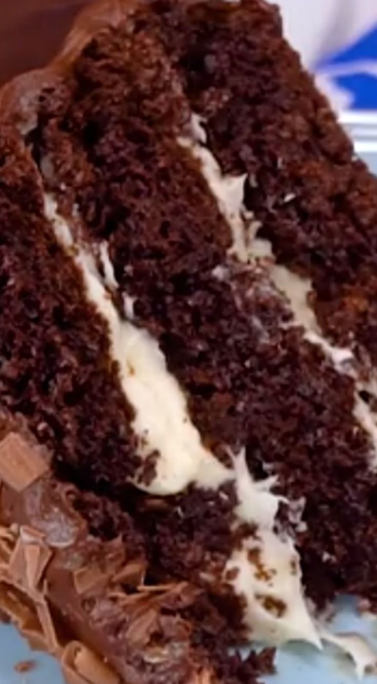 Hersheys Chocolate Cake with Cream Cheese Filling & Chocolate Cream Cheese Buttercream ~ It is incredible!