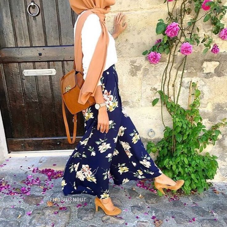 Floral maxi skirt - check out: Esma <3
