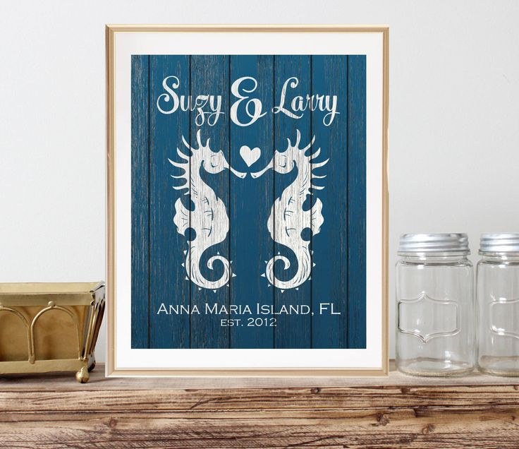 A personal favorite from my Etsy shop https://www.etsy.com/listing/525739790/beach-wedding-gift-for-newlyweds-gift