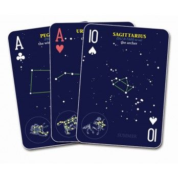 Night Sky Playing Cards  Now you can play all of your favorite card games while studying the constellations!  Each card in this standard playing deck features its own illustration, helping you to become acquainted with the star patterns that make up each skyward shape.: Jonathan Poppele, Constellations, Night Skies, Gift Ideas, Book, Playing Cards, Night Sky, Sky Playing, Constellation Playing