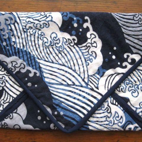 Sashiko stitching on printed Japanese fabric.  See my store at www.madeit.com.au/HookandBobbin