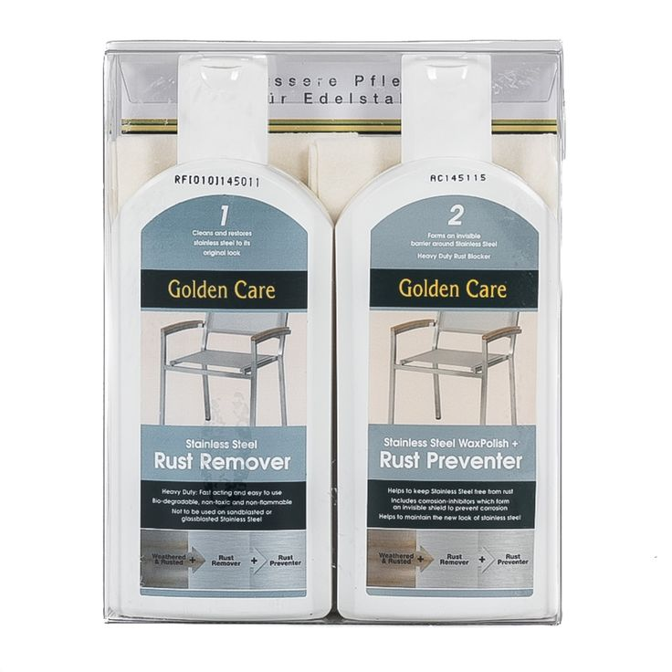 Golden Care Stainless Steel Care Kit Westminster Teak Westminster Teak Rust On Stainless Steel Stainless Steel Furniture