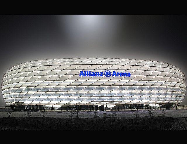 Allianz Arena | Munich, Germany | Herzog  de Meuron     worked @ Allianz in golden Valley,mn