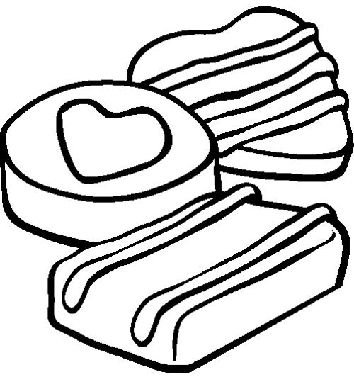 chocolate brownie coloring pages - photo#24