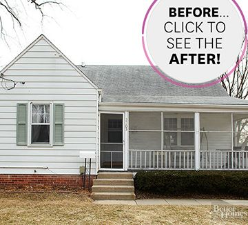 Before and After Small Home Exterior Makeovers Curb