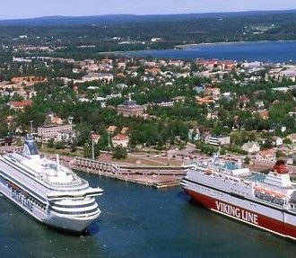 Passenger ships in Mariehamn. Photo: Hannu Vallas