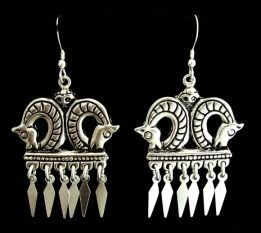 Finnish Horse Earrings - beautiful reproduction Norse jewelry