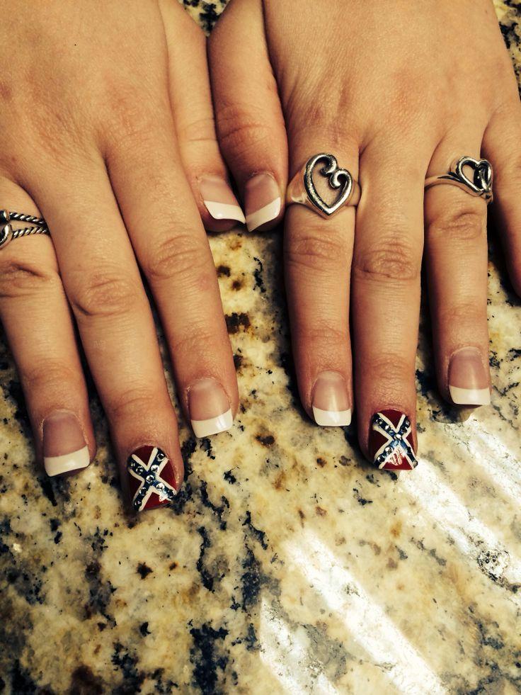 My rebel flag nails! ❤️