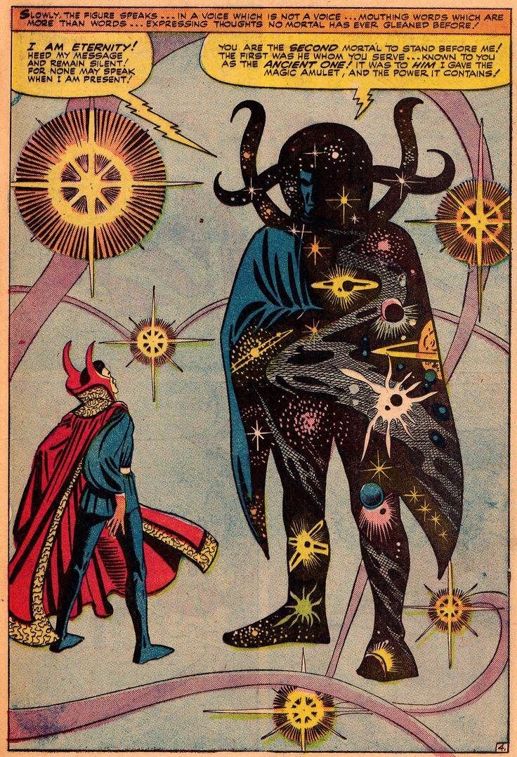 First Appearance Of Eternity From Strange Tales #138 (1965) Art & Story by Steve Ditko, Words by Stan Lee
