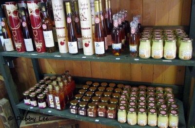 Tasty products at Ile d'Orleans, Quebec City.