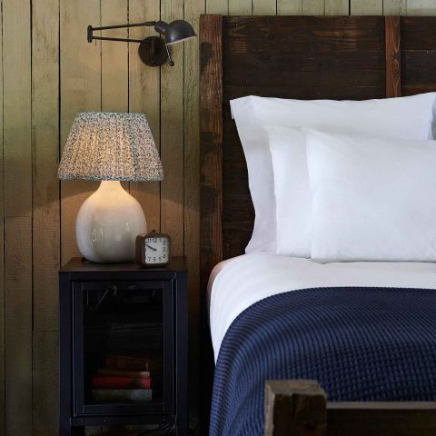 • Cotton throw for an Emperor sized bed• Honeycomb pattern is update on traditional waffle weave• Waffle weave results in a soft, weighty fabric• Available in shades of indigo and taupe• Found in the cabins at Soho Farmhouse