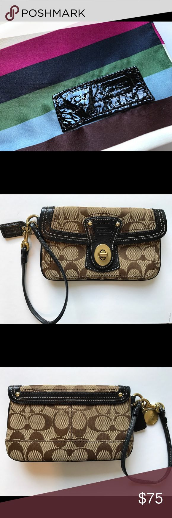 Coach Legacy 25th RARE wristlet RARE LIMITED EDITION Coach Legacy Stripe wristlet. Excellent condition with minor signs of wear on interior fabric lining. Comes with Coach Legacy Stripe duster/bag. Coach Bags Clutches & Wristlets