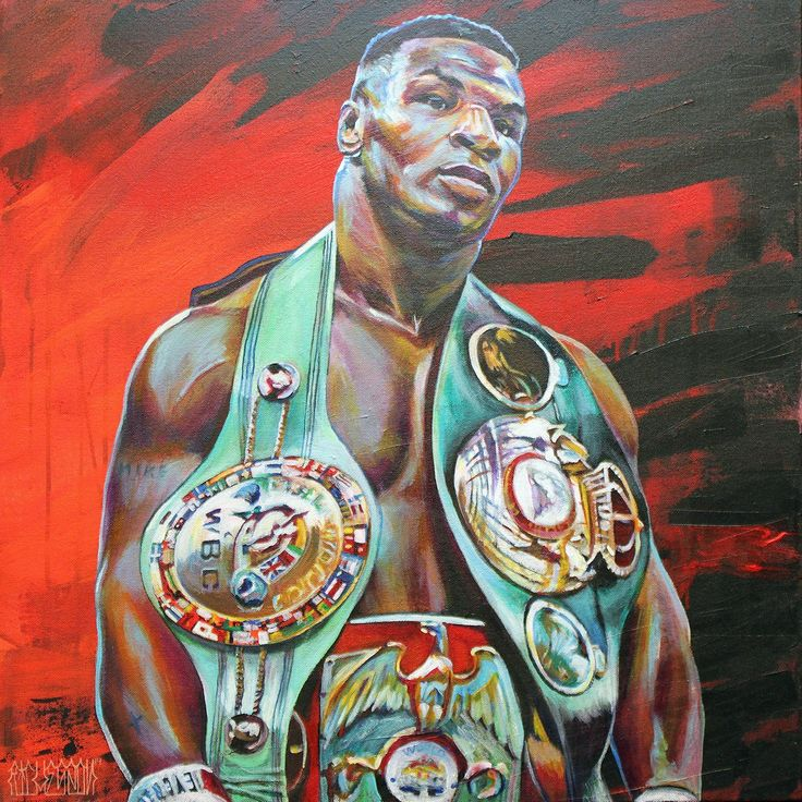 """Mike Tyson, Commissioned by Ray Edwards, Vikings, 2014, 24""""x24"""""""