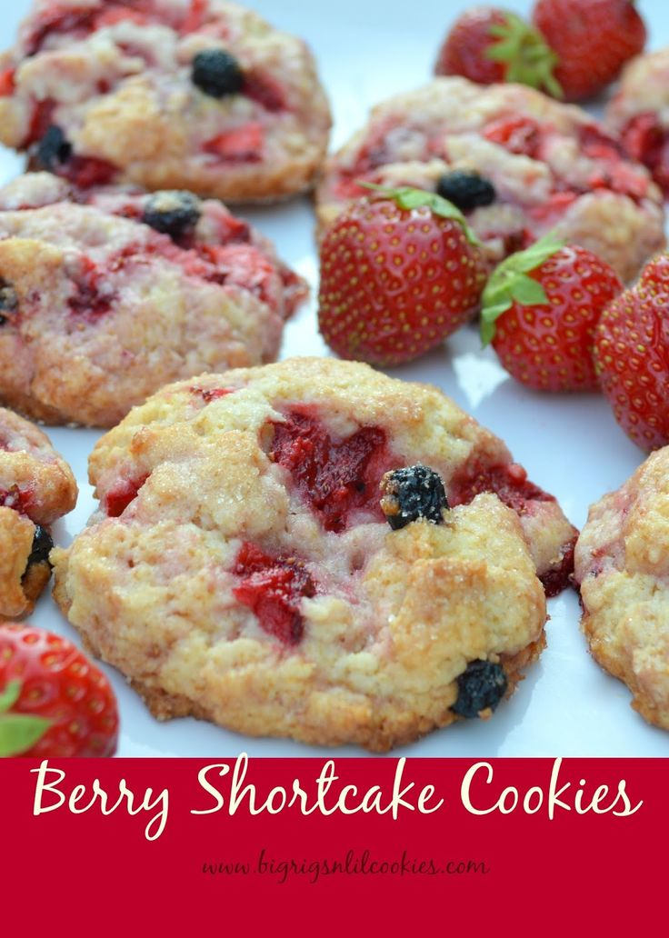 Big Rigs 'n Lil' Cookies: Berry Shortcake Cookies