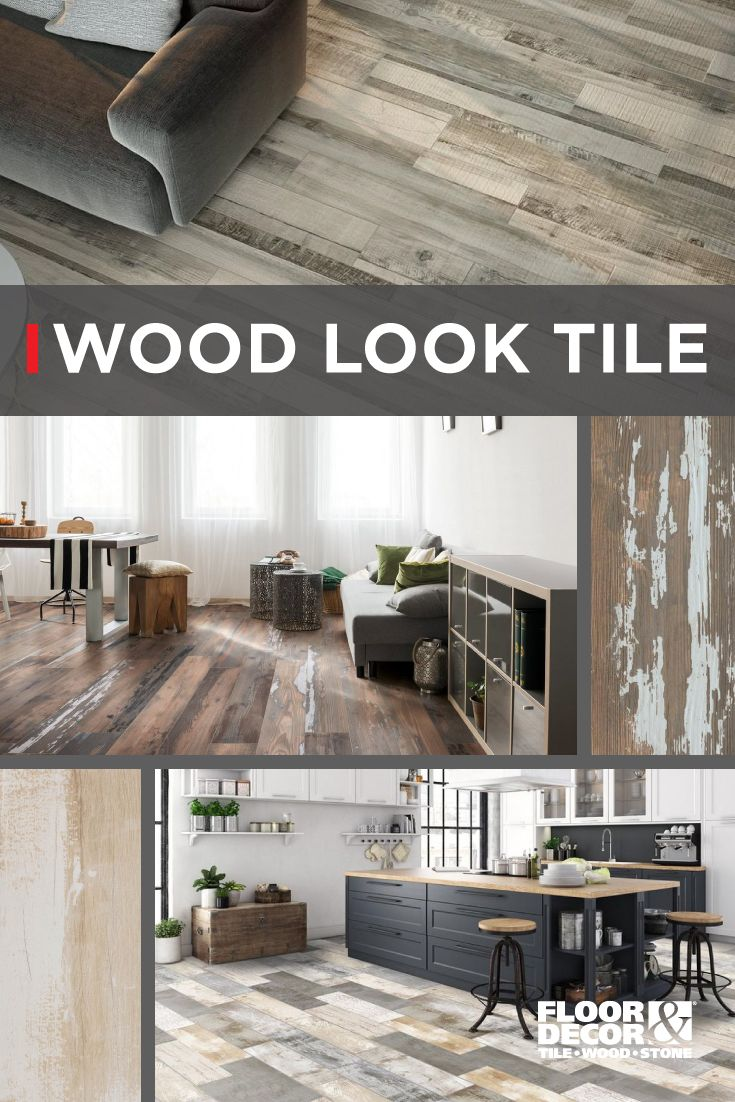 Wood Look Tile Is More Versatile Than Ever Before Replace Your Wallpaper With Wood Planks Or Get The Look Of Wood In B Wood Look Tile Home Remodeling Flooring