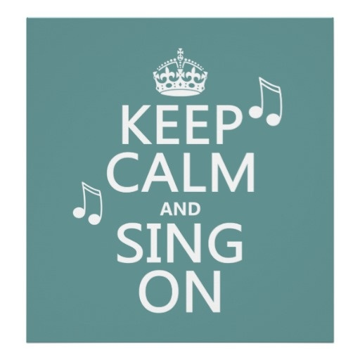 sing on and sing alone, if you'd like.