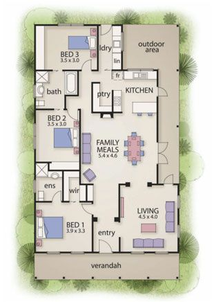 I would change the kitchen layout and lose the third bedroom.  The Buxton | Busby Homes
