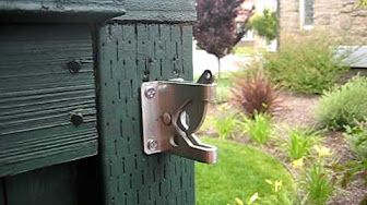 Adjustable Gate Latch (Gravity Latch Style) - YouTube