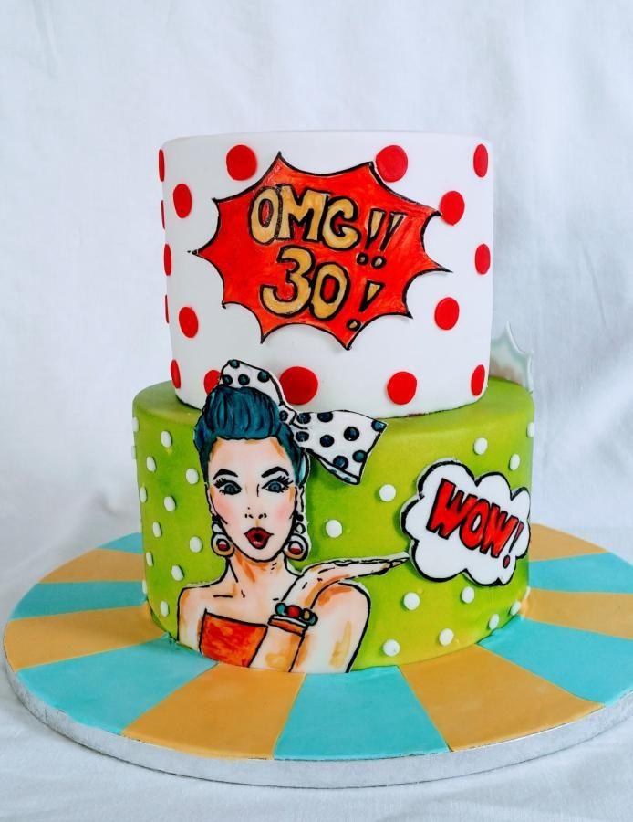 Картинки в стиле поп-арт для торта, открыток приколом