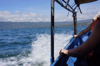 Local transport across the lake to the hot springs. Doesn't get any better. http://www.sharingbali.com/bootcamp/general-fitness/