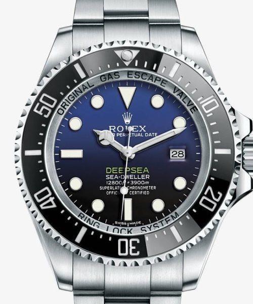 Rolex Deepsea Sea-Dweller D-Blue Dial Mens Watch 44mm - Replica Homage Watches for Sale