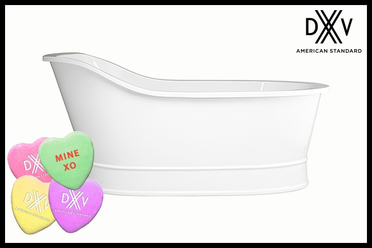 Make our Oak Hill freestanding soaking tub YOURS. Pin to Win! #ValentinesDay #Contest Contest rules: http://bit.ly/1ROfLGW