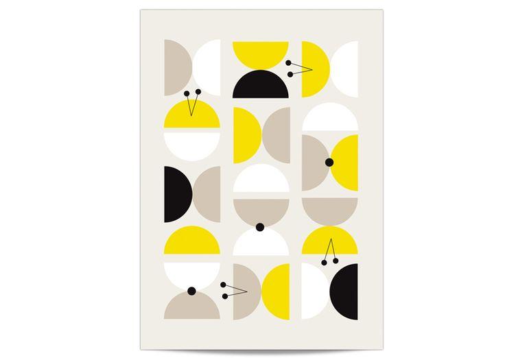 Petite affiche Zü Boutons d'or - Zu, Mes Habits Chéris - kidstore Récréatif - Décoration enfant