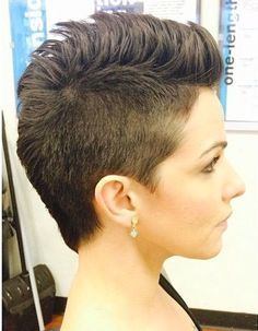 fohawk for girl short on sides brushed down - Google Search