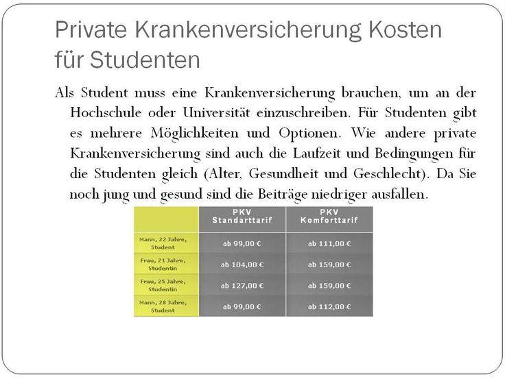 PKV Kosten für Studenten