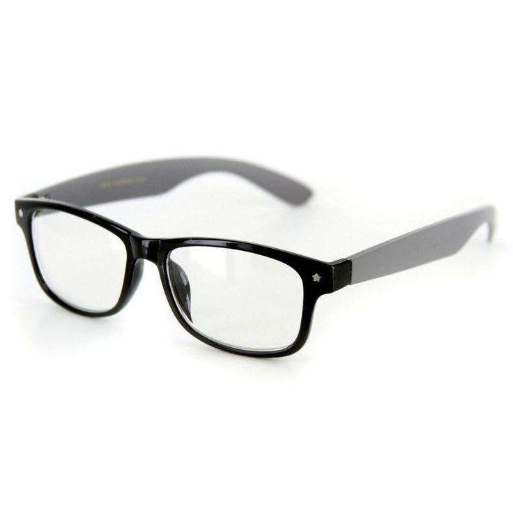 """Star Burst"" ""Just for Fun"" Clear Lens Wayfarer Fake Glasses -100% UV Protection"