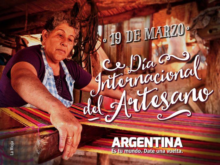 19 de marzo, Día Internacional del Artesano. ¡Feliz día a todos los fabricantes de recuerdos!  #Artesanias #Art #ArgentinaEsTuMundo #Argentina #Tourism
