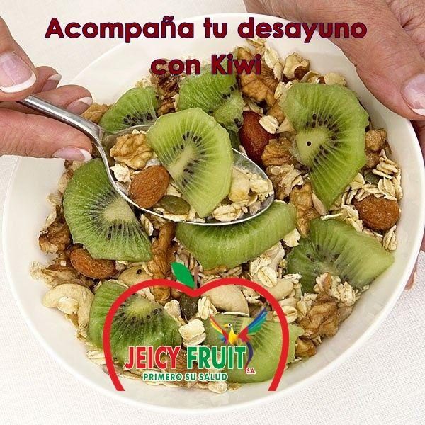 Que tal si empezamos el día preparándonos un rico desayuno digestivo acompañado de una de nuestras frutas KIWI de Jeicy Fruit.