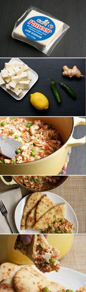 Paneer Bhurji - an Indian spiced dish of scrambled paneer  #paneer #food #indianfood #Zaika  http://zaikaofkensington.com/