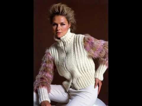 Вязание с мехом. КРАСИВЫЕ вязаные  изделия с мехом. BEAUTIFUL knitwear a...