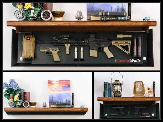 Tactical Walls 1242 RLS Hidden Gun Shelf