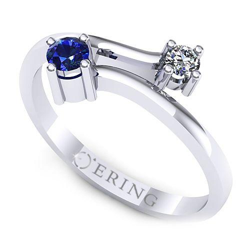 Inel logodna L20ASF inel cu diamant si safir