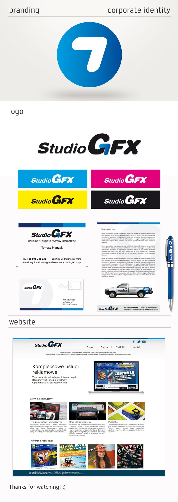 Corporate identity Studio GFX.