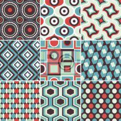 """Papier peint """"arrière-plan, geometriques, sonnerie - seamless pattern retro géométrique"""" ✓ Un large choix de matériaux ✓ Impression écologique 100% ✓ Regardez des opinions de nos clients !"""