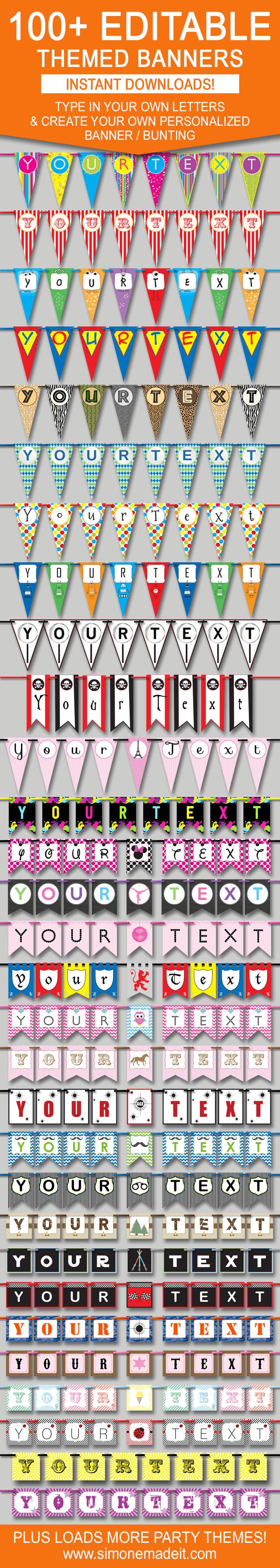 top 25+ best pennant banner template ideas on pinterest  banner