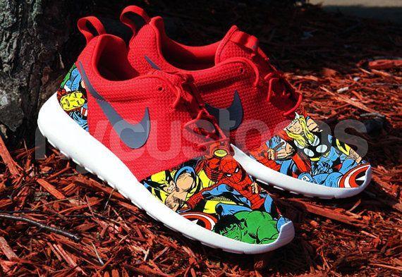 Nike Run Roshe Sport super-hros de bande dessine rouge V5 Custom