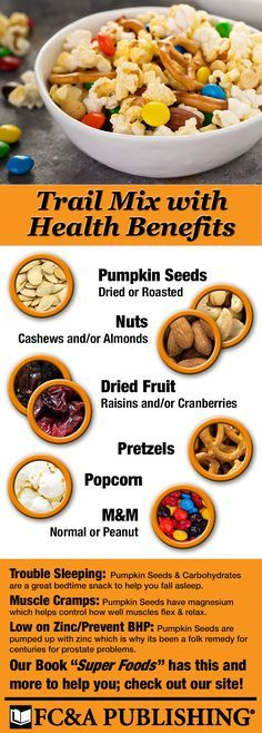 Super foods, #NationalPumpkinDay, Trail Mix, If you have Trouble Sleeping, Low Zinc, BHP, and muscle cramps this food can help