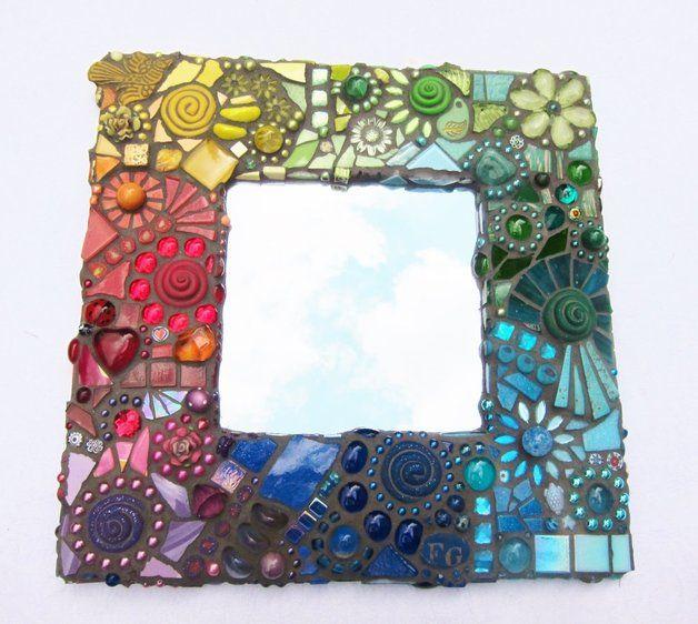 Rainbow mosaic mirror