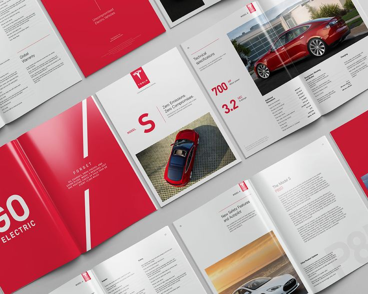 Tesla Model S Catalog on Behance