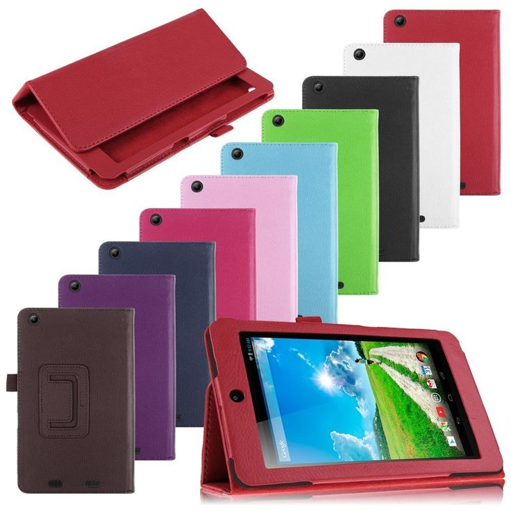For Acer Iconia One 7 B1-730HD Tablet  Folio Luxury PU Leather Case Cover Stand  #UnbrandedGeneric