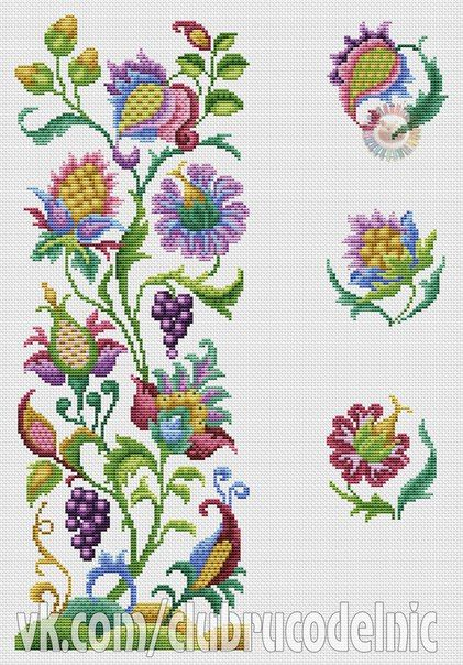 Jacobean crewel embroidery More