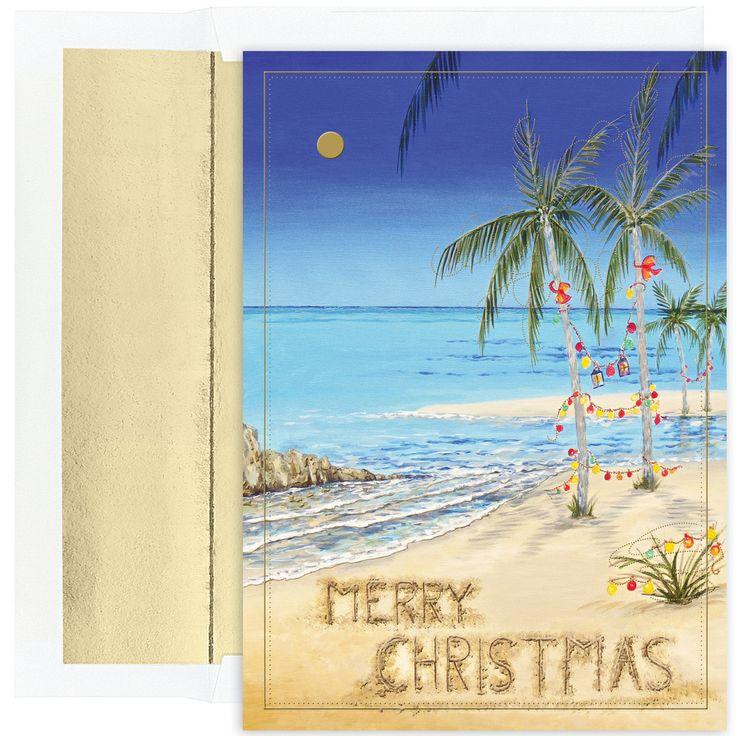Christmas card tropical